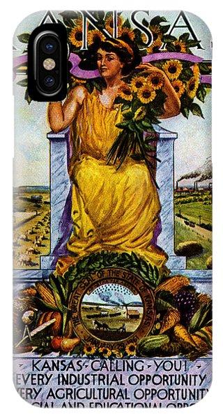 1911 Kansas Poster IPhone Case