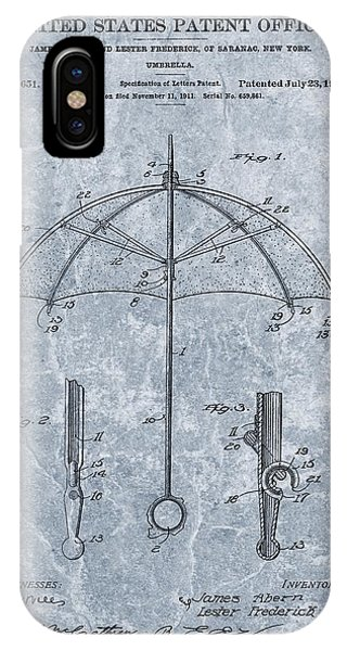 Rainy Day iPhone Case - 1912 Umbrella Patent by Dan Sproul