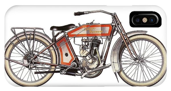 1914 Harley Davidson 35ci Model 10b IPhone Case