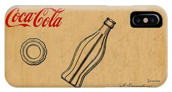 Vintage iPhone Case - 1915 Coca Cola Bottle Design Patent Art 1 by Nishanth Gopinathan