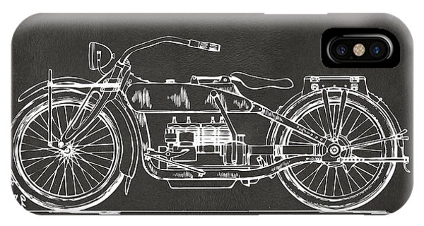 1919 Motorcycle Patent Artwork - Gray IPhone Case