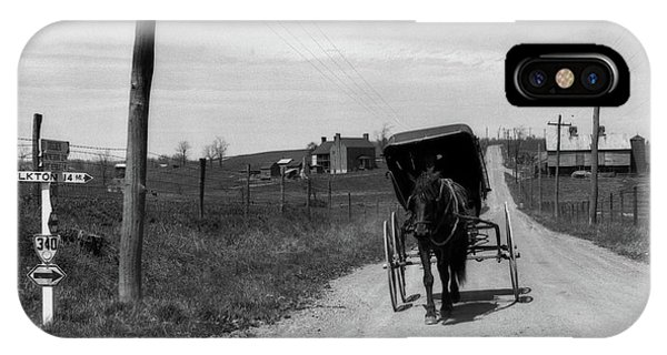 Amish Country iPhone Case - 1920s 1930s Amish Man Driving Buggy by Vintage Images