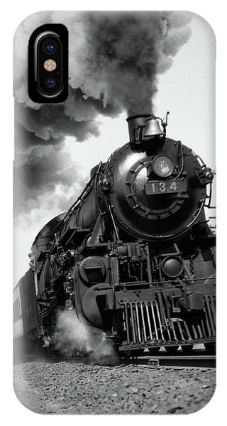 1920s 1930s Steam Engine Pulling IPhone Case