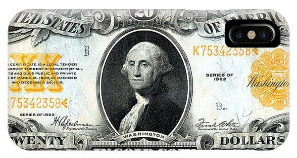 1922 Twenty Dollar Gold Certificate IPhone Case