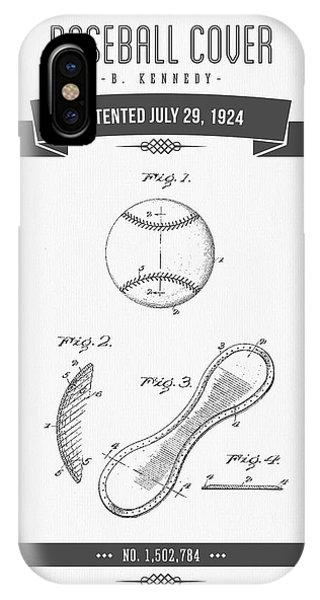 1924 Baseball Cover Patent Drawing IPhone Case