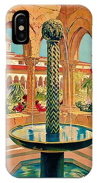 1925 Monreale Vintage Travel Art IPhone Case