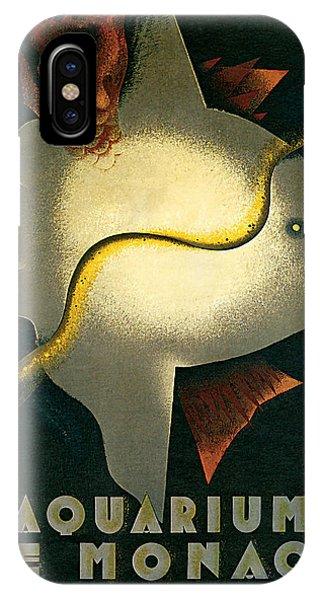 1926 Aquarium De Monaco Vintage Travel Art IPhone Case