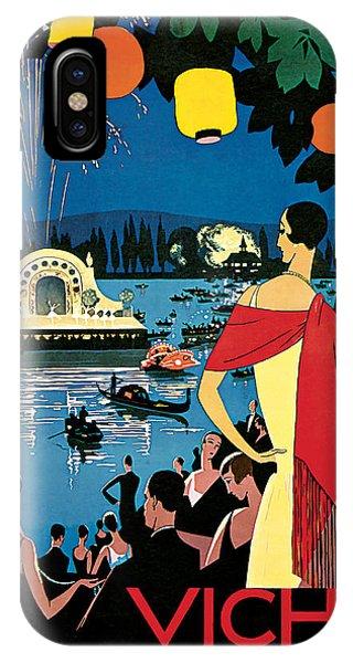 1926 Vichy Comte Des Fetes - Vintage Travel Art IPhone Case