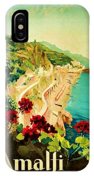 1927 Amalfi Italy Vintage Travel Art IPhone Case