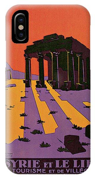 1927 La Syrie Et Le Liban - Vintage Travel Art IPhone Case