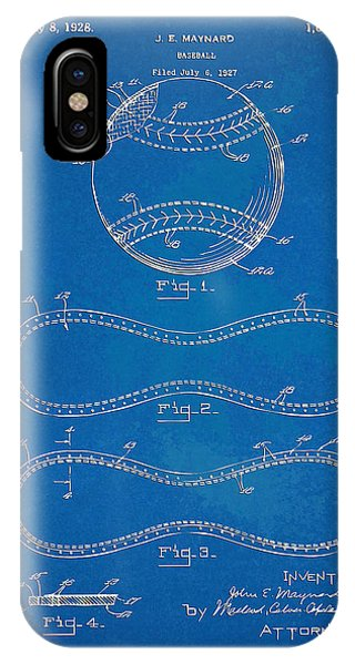 1928 Baseball Patent Artwork - Blueprint IPhone Case