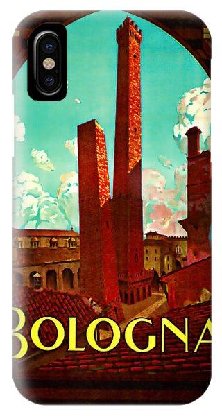 1928 Bologna -  Vintage Travel Art IPhone Case