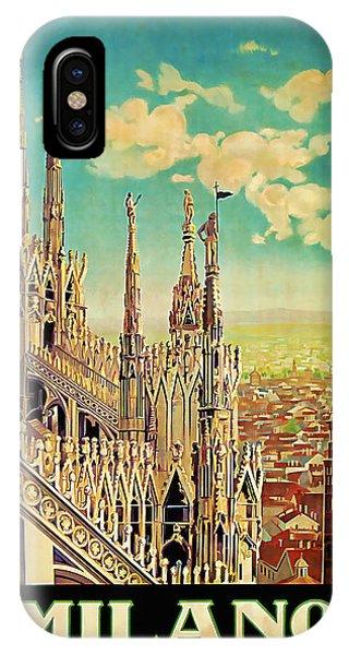 1928 Milano - Vintage Travel Art IPhone Case