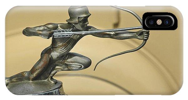 1928 Pierce Arrow Helmeted Archer Hood Ornament IPhone Case