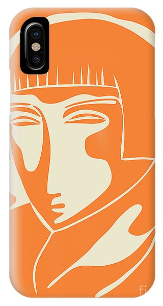 1928 Woman Face   Orange IPhone Case