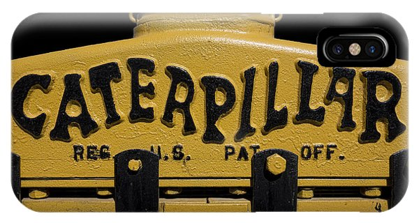 Caterpillar iPhone Case - 1929 Caterpillar Baby Dozer Grill by Daniel Hagerman