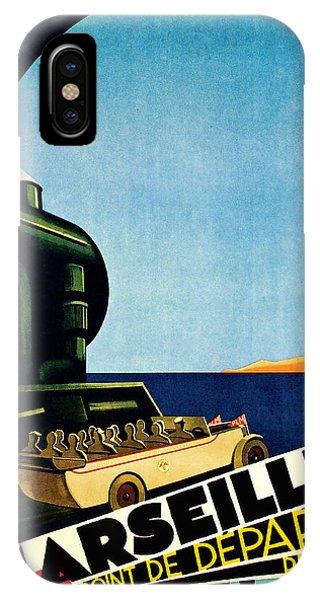 1929 Marseille Point De Depart Cote D Azur - Vintage Travel Art IPhone Case