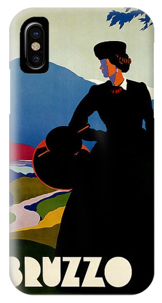 1930 Abruzzo Vintage Travel Art IPhone Case