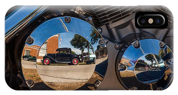 1930 Ford Reflected In 2005 Honda Vtx IPhone Case