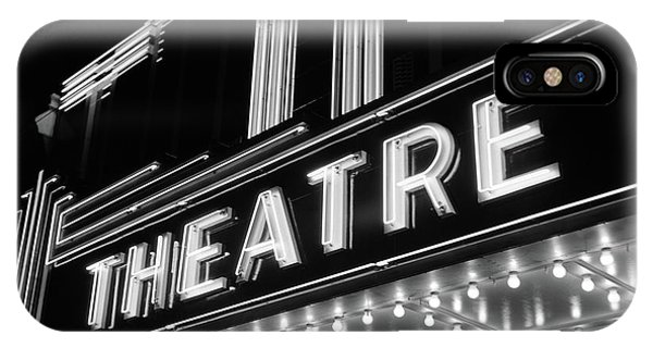 1930s 1940s Theater Marquee Theatre IPhone Case