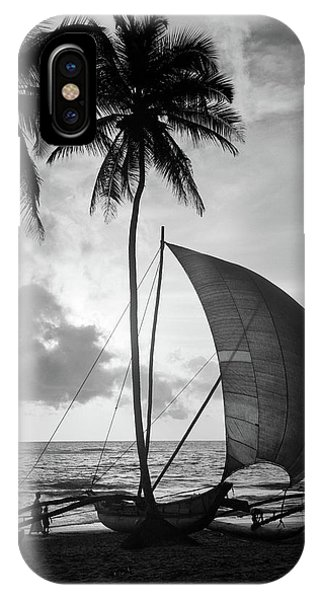 Catamaran iPhone Case - 1930s Single Catamaran On Tropical by Vintage Images