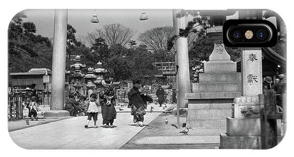 Kobe iPhone Case - 1930s Women Children Walking by Vintage Images