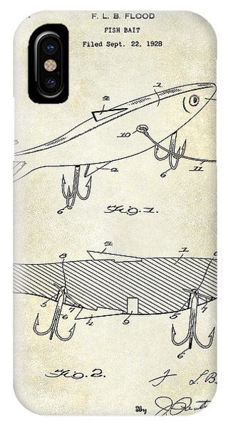 1931 Fish Bait Patent Drawing IPhone Case