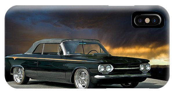 Corvair iPhone Case - 1962 Corvair Corsa Convertible by Dave Koontz