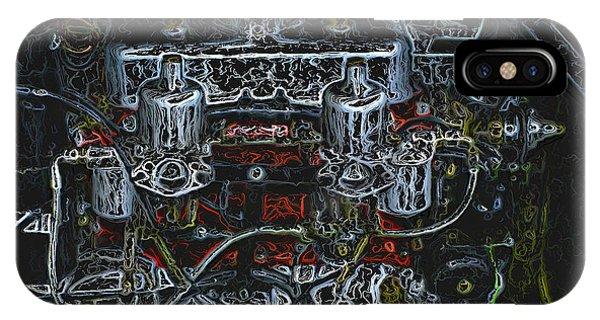 1932 Frazer Nash Tt Engine Detail Digital Art IPhone Case