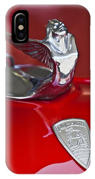 Coupe iPhone Case - 1933 Plymouth Hood Ornament by Jill Reger