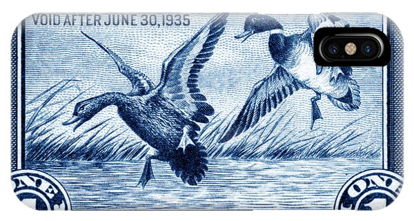 1934 American Bird Hunting Stamp IPhone Case