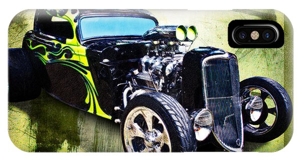 1934 Ford Three Window Coupe Hot Rod IPhone Case