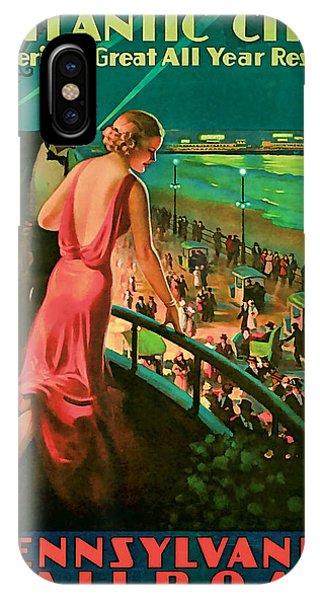 1935 Atlantic City Vintage Travel Art IPhone Case