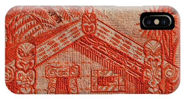 1935 Carved Maori House New Zealand Stamp IPhone Case
