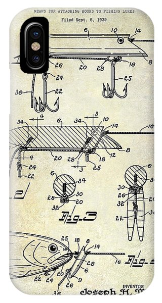 1935 Fishing Lure Patent IPhone Case
