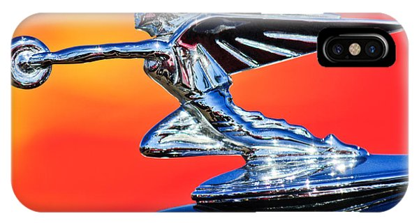 1935 Packard Hood Ornament -0295c IPhone Case