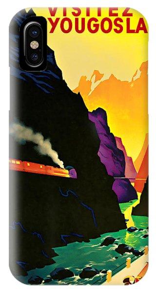 1935 Visitez La Yougoslavie - Vintage Travel Art IPhone Case