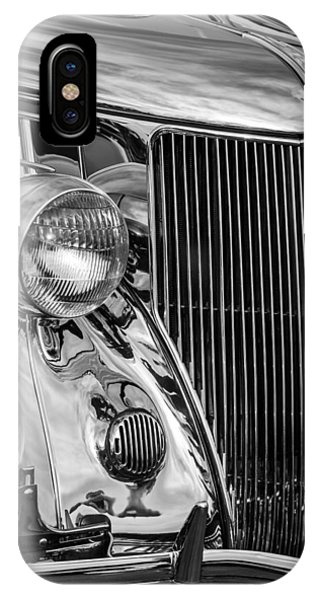 Stainless Steel iPhone Case - 1936 Ford Stainless Steel Grille -0376bw by Jill Reger
