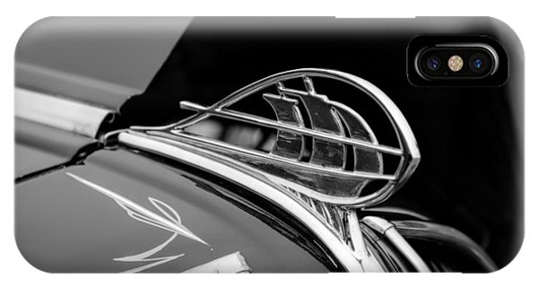 1936 Plymouth Sailing Ship Hood Ornament IPhone Case
