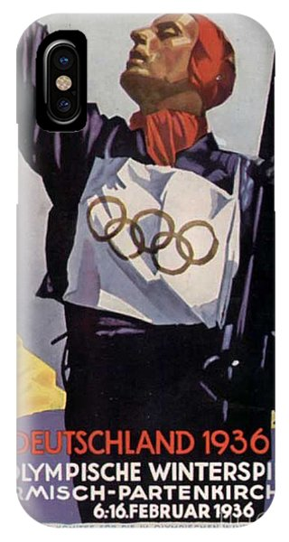 1936 Winter Olympics Phone Case by Unknown