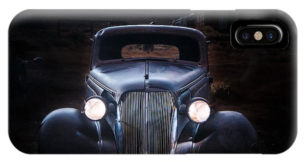 Bodie Ghost Town iPhone Case - 1937 Chevy At Dusk by Jeff Sullivan