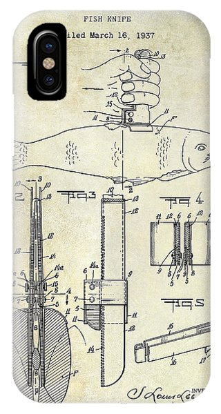 1937 Fishing Knife Patent IPhone Case