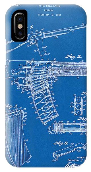1937 Police Remington Model 8 Magazine Patent Artwork - Blueprin IPhone Case