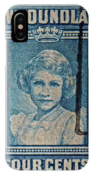 1938 Queen Elizabeth II Newfoundland Stamp IPhone Case