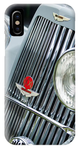 Martin iPhone Case - 1939 Aston Martin 15-98 Abbey Coachworks Swb Sports Grille Emblems by Jill Reger