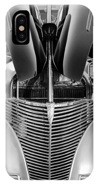 Coupe iPhone Case - 1939 Chevrolet Coupe Grille -115bw by Jill Reger