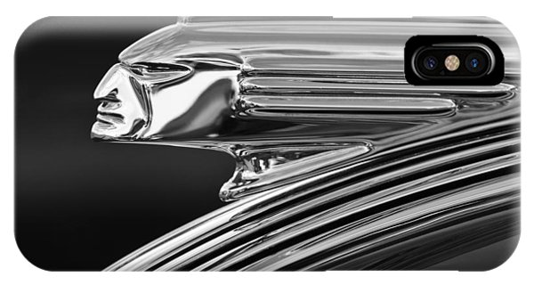 1939 Pontiac Silver Streak Hood Ornament 3 IPhone Case