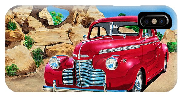 1940 Chevy Coupe In The Rocks IPhone Case