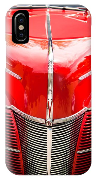 Coupe iPhone Case - 1940 Ford Deluxe Coupe Grille by Jill Reger