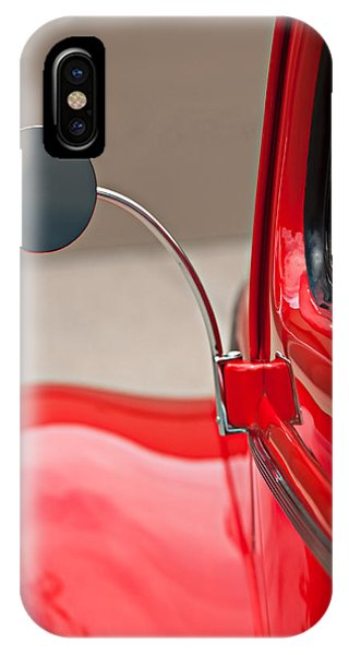IPhone Case featuring the photograph 1940 Ford Deluxe Coupe Rear View Mirror by Jill Reger